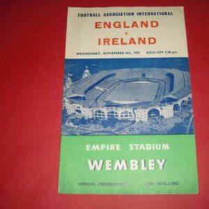 1957 ENGLAND V IRELAND
