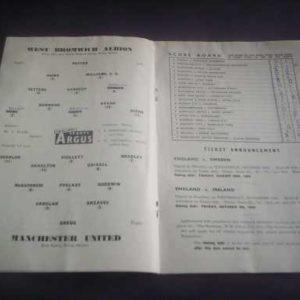 1959/60 WBA V MAN UTD