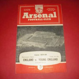 1960 ENGLAND V YOUNG ENGLAND @ ARSENAL