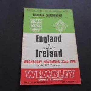1967 ENGLAND V NORTHERN IRELAND