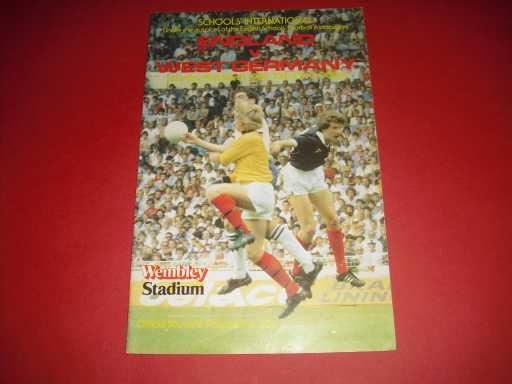 ENGLAND SCHOOLS » 1983 ENGLAND V WEST GERMANY SCHOOLS