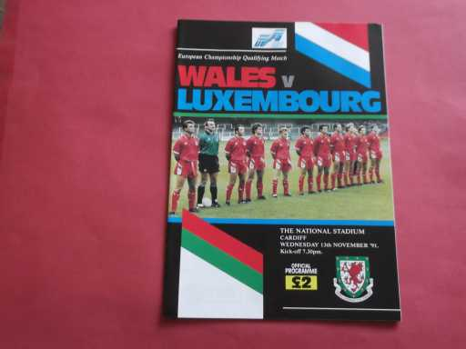 WALES » 1991 WALES V LUXEMBOURG