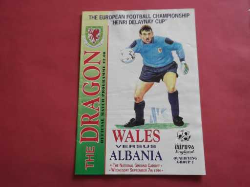 WALES » 1994 WALES V ALBANIA EURO