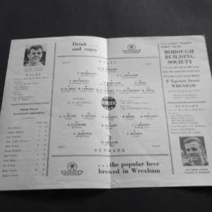 1965 WALES V DENMARK WORLD CUP