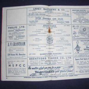 1950/51 BRENTFORD V QPR