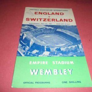 1962 ENGLAND V SWITZERLAND