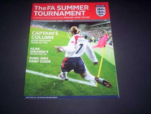 ENGLAND HOMES » 2004 ENGLAND V JAPAN & ICELAND SUMMER TOURNAMENT