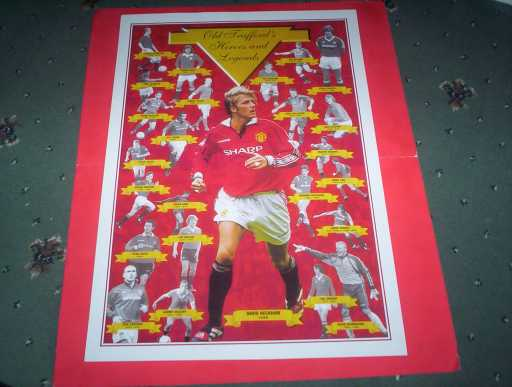POSTERS »  MAN UTD OLD TRAFFORD HEROES AND LEGENDS POSTER