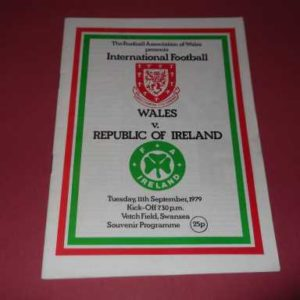 1979 WALES V REPUBLIC OF IRELAND