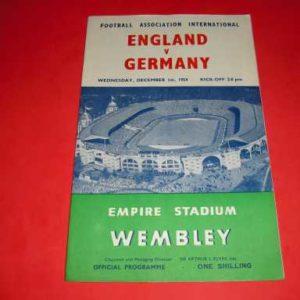 1954 ENGLAND V GERMANY