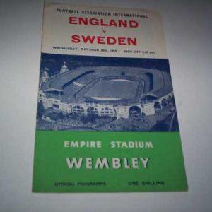 1959 ENGLAND V SWEDEN