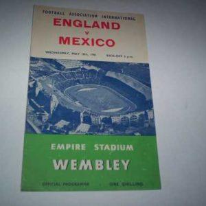 1961 ENGLAND V MEXICO