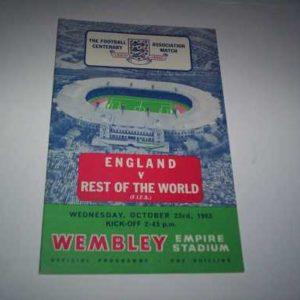 1963 ENGLAND V REST OF THE WORLD