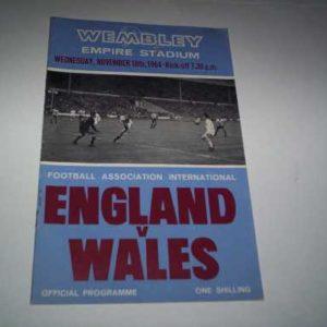 1964 ENGLAND V WALES