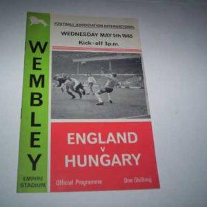 1965 ENGLAND V HUNGARY