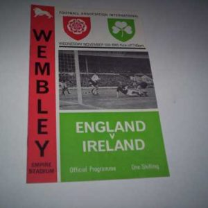 1965 ENGLAND V IRELAND