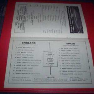 1967 ENGLAND V SPAIN