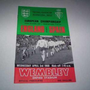 1968 ENGLAND V SPAIN