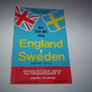 1968 ENGLAND V SWEDEN