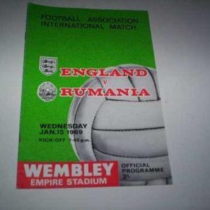 1969 ENGLAND V RUMANIA