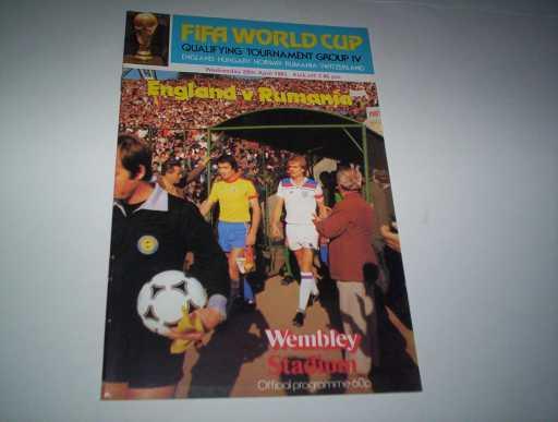 ENGLAND HOMES » 1981 ENGLAND V RUMANIA