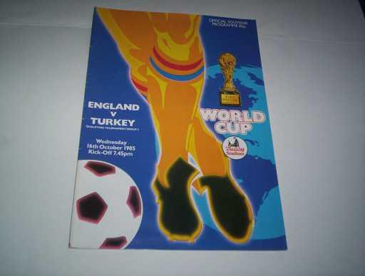 ENGLAND HOMES » 1985 ENGLAND V TURKEY