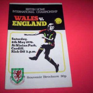 1976 WALES V ENGLAND