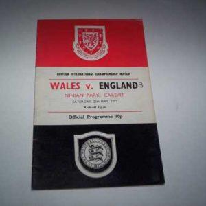 1972 WALES V ENGLAND