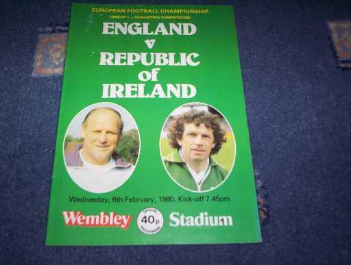 ENGLAND HOMES » 1980 ENGLAND V REPUBLIC OF IRELAND