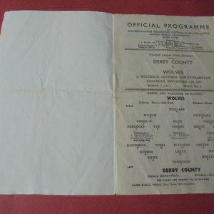 1947/48 WOLVES V DERBY COUNTY