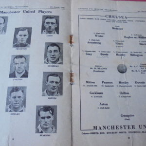 1949/50 CHELSEA V MAN UTD FA CUP