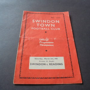 1950/51 SWINDON v READING