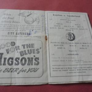 1950/51 EVERTON v SUNDERLAND