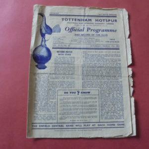 1950/51 TOTTENHAM v WBA