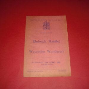 1949/50 DULWICH HAMLET V WYCOMBE