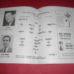 1967 INTER MILAN V CELTIC EUROPEAN CUP FINAL