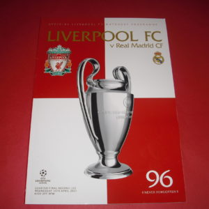 2020/21 LIVERPOOL V REAL MADRID CHAMPIONS LEAGUE