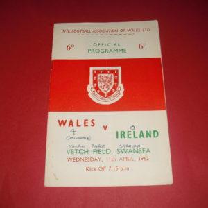 1962 WALES V NORTHERN IRELAND