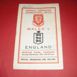 1953 WALES V ENGLAND