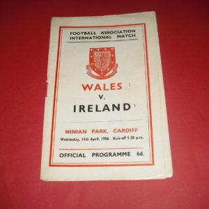 1956 WALES V NORTHERN IRELAND