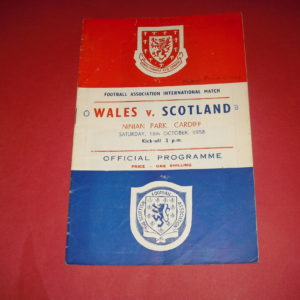 1958 WALES V SCOTLAND