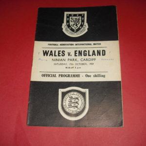 1959 WALES V ENGLAND