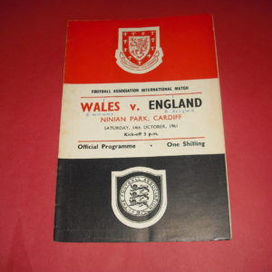 1961 WALES V ENGLAND
