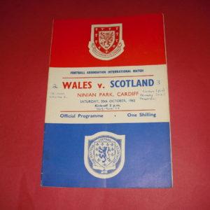 1962 WALES V SCOTLAND
