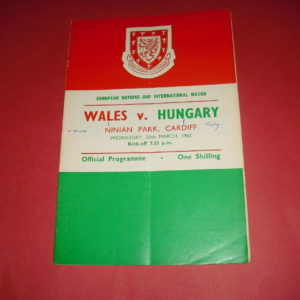 1963 WALES V HUNGARY