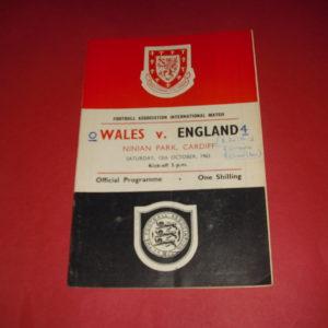1963 WALES V ENGLAND