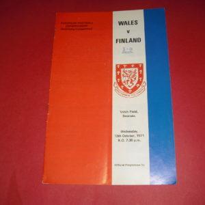 1971 WALES V FINLAND