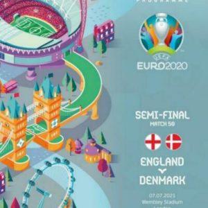 2020 EURO SEMI FINAL ENGLAND v DENMARK (free postage)