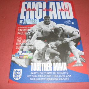 2021 ENGLAND v ANDORRA (WORLD CUP QUALIFIER)